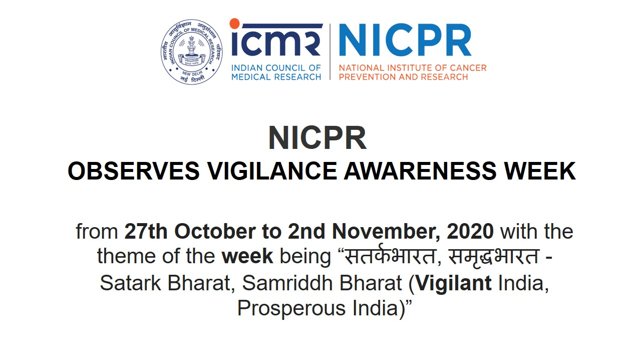NICPR Observing Vigilance Awareness Week - Oath taking by Staff